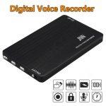 JNN Diktafon 2  bankártya méretű Diktafon MP3 lejátszó 16GB 70 óra felvétel