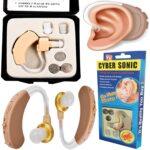 Hallókészülék, hallásjavító, fül mögötti, állítható, 3 db különböző méretű szilikon füldugóval